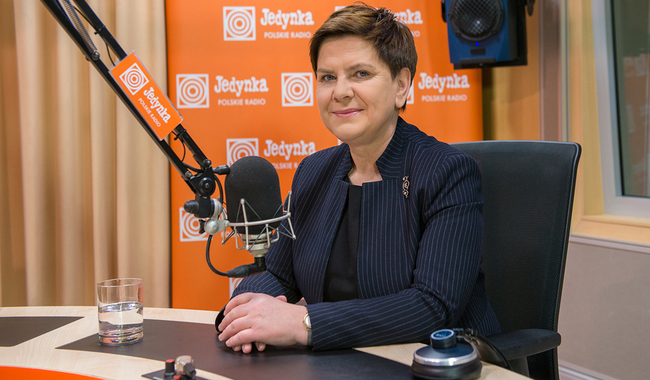 Polish PM Beata Szydło. Photo: Polish Radio/Wojciech Kusiński