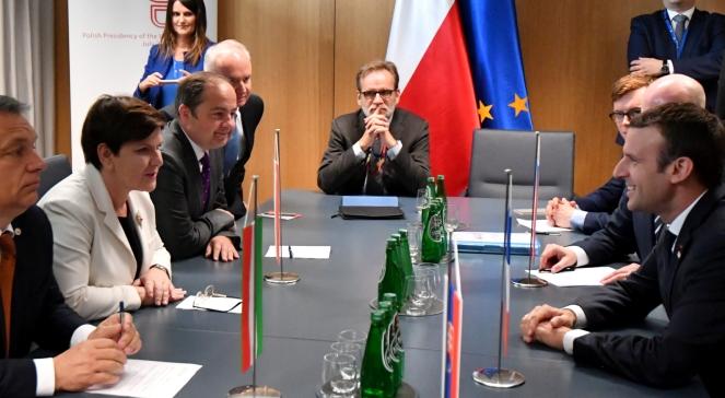 Зустріч прем'єрів країн Вишеградської групи з президентом Франції Емманюелем Макроном