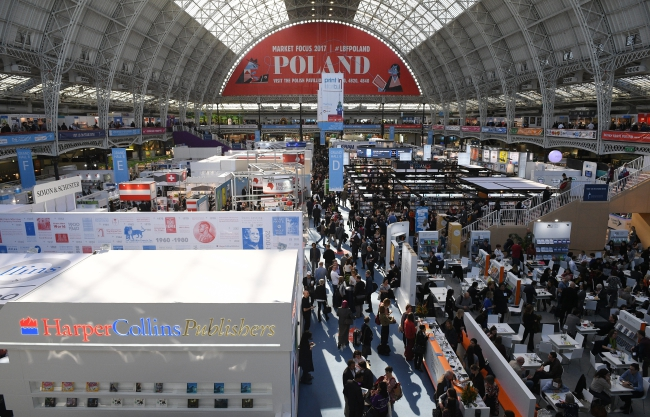 A view of the London Book Fair, in London, Britain, 15 March 2017. The LBF runs from 14 to 16 March. Photo: EPA/FACUNDO ARRIZABALAGA