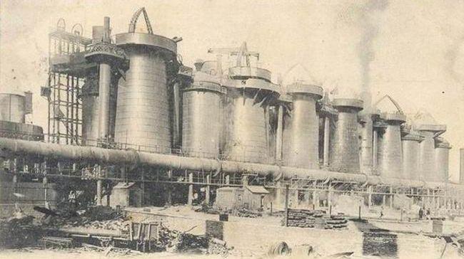 Доменні печі заводу Новоросійського товариства (Юзівка початок ХХ століття )