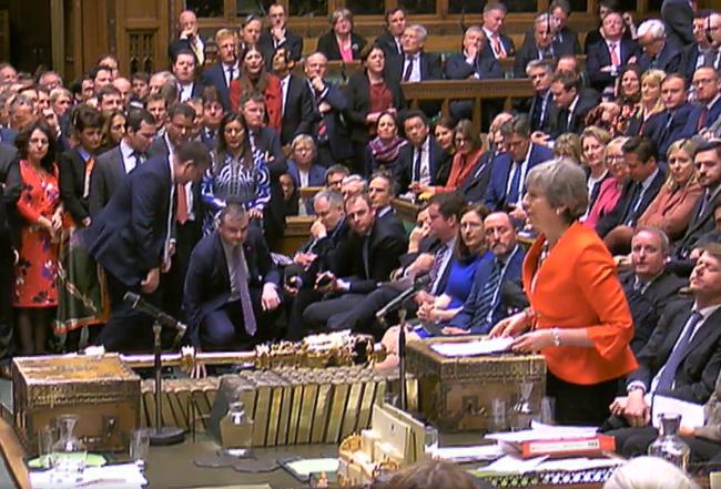 Дебаты по брекситу в британском парламенте во вторник,12 марта.