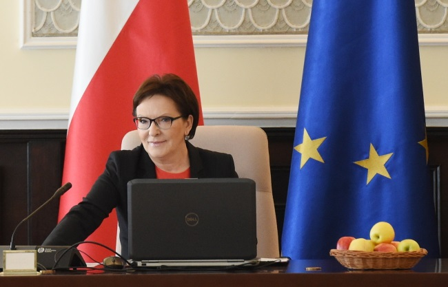 Prime Minister Ewa Kopacz has been in office for twelve months. Photo: PAP/Radek Pietruszka