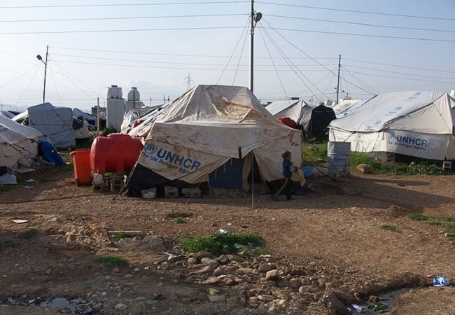A camp for Syrian Refugees in Iraqi Kurdistan. Photo: Wikimedia Commons/Cmacauley.