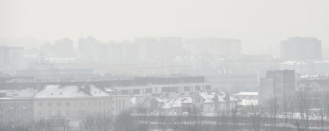 Смог над Краковом. 9 січня 2017