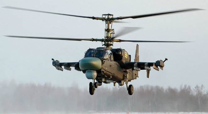 Ka-52 - rosyjski, dwumiejscowy śmigłowiec bojowy