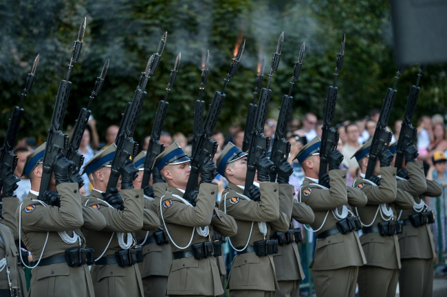 Sunday's commemorations in Warsaw. Photo: PAP/Marcin Obara