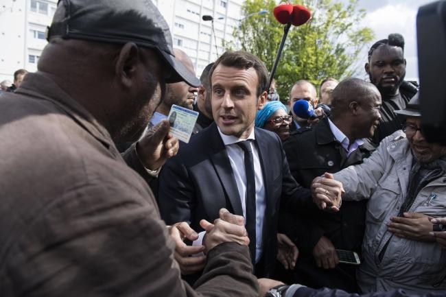 French presidential election candidate Emmanuel Macron. Photo: EPA/JULIEN DE ROSA