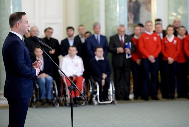 President Andrzej Duda meets Polish sports stars. Photo: PAP/Jacek Turczyk