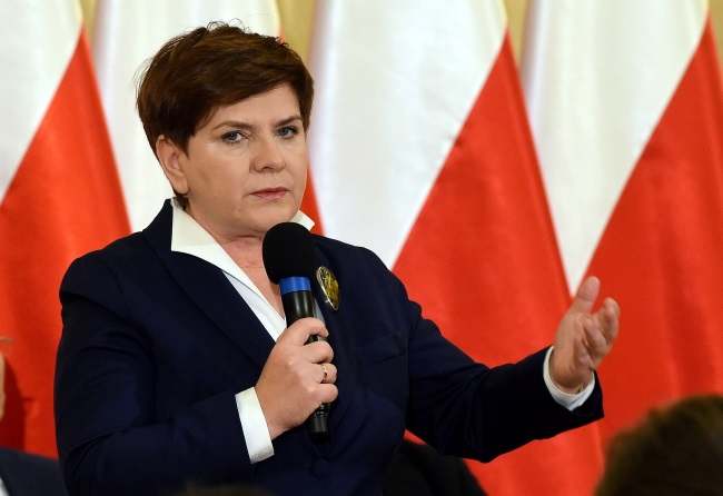 Beata Szydło. Photo: PAP/Radek Pietruszka