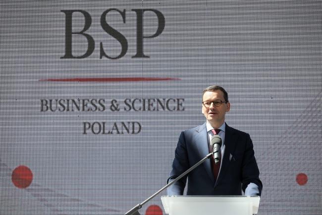 Polish Prime Minister Mateusz Morawiecki at the ceremony