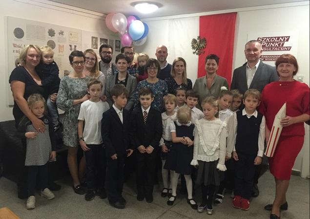 Празднование 100-летия обретения Польшей независимости в польском школьном консультационном пункте при Посольстве Польши в Москве