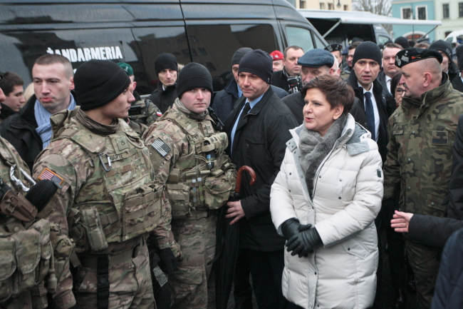 Polish PM Beata Szydło at the ceremony on Saturday. Photo: PAP/Lech Muszyński