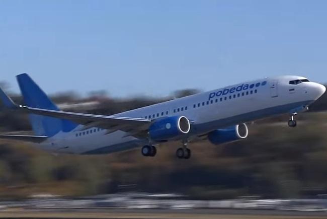 Самалёт Boeing 737-800 расейскай бюджэтнай авіякампаніі «Победа»