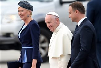 UPDATE: Pope arrives in Poland for World Youth Days