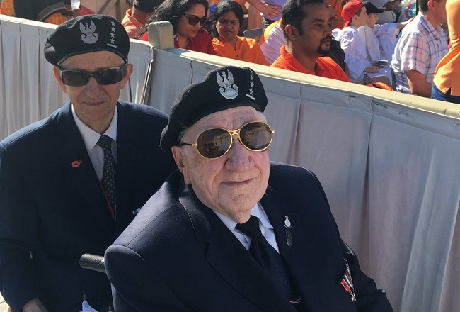 Veterans at the Vatican on Wednesday. Photo: Twitter.com/@Kombatanci