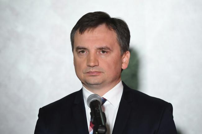 Міністар юстыцыі й генэральны пракурор Польшчы Збігнеў Зёбра.