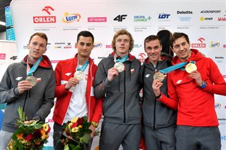 Polish ski jumpers back from Olympics