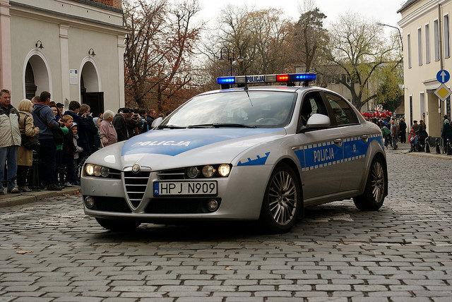 Аўтамабіль Alfa Romeo 159 дарожнай паліцыі Польшчы