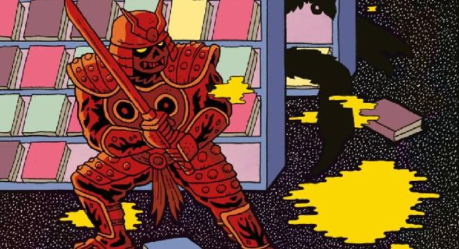"""Fragment okładki komiksu """"Samurai Slasher"""""""