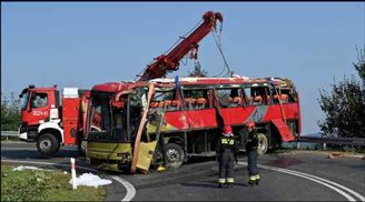 Тры пасажыры загінулі ў аварыі ўкраінскага аўтобуса