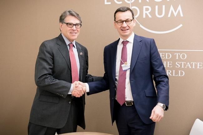 US Energy Secretary Rick Perry and Polish Prime Minister Mateusz Morawiecki. Photo: KPRM.