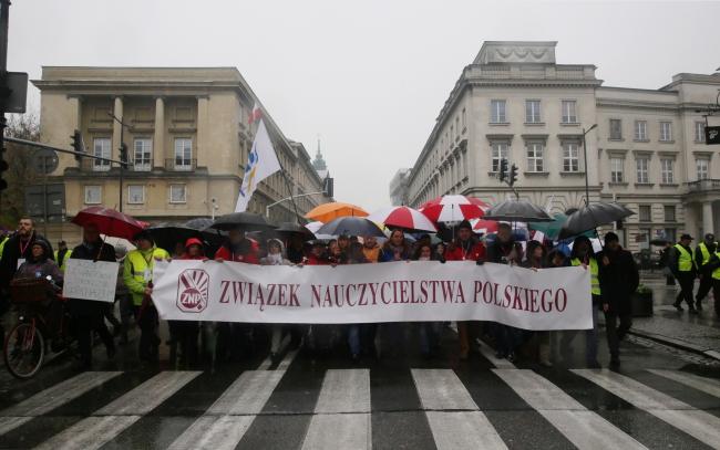 Маніфестація проти освітньої реформи. Варшава, 19 листопада 2016