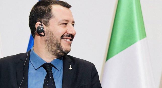 Italiens Innenminister und stellvertretender Ministerpräsident, Matteo Salvini