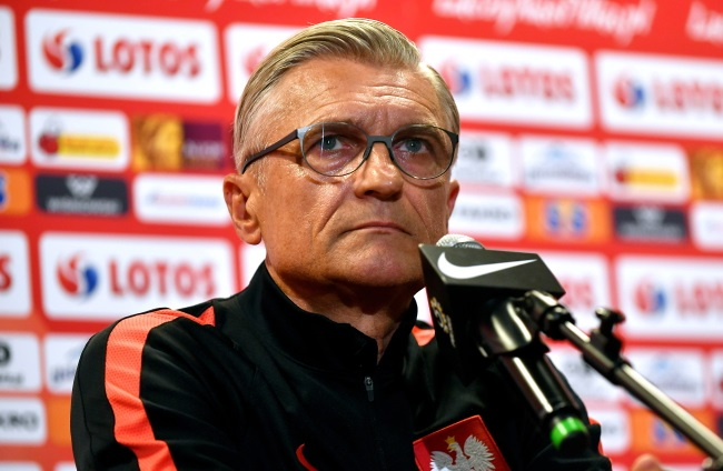 Poland manager Adam Nawałka during a press conference in Warsaw on Monday. Photo: PAP/Bartłomiej Zborowski