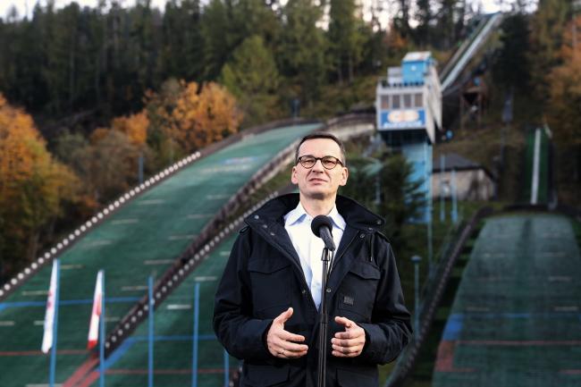 Матеуш Моравецкий в окрестностях Закопане, где проходят канатные дороги