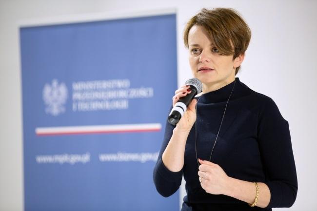 Jadwiga Emilewicz. Photo: PAP/Hanna Bardo