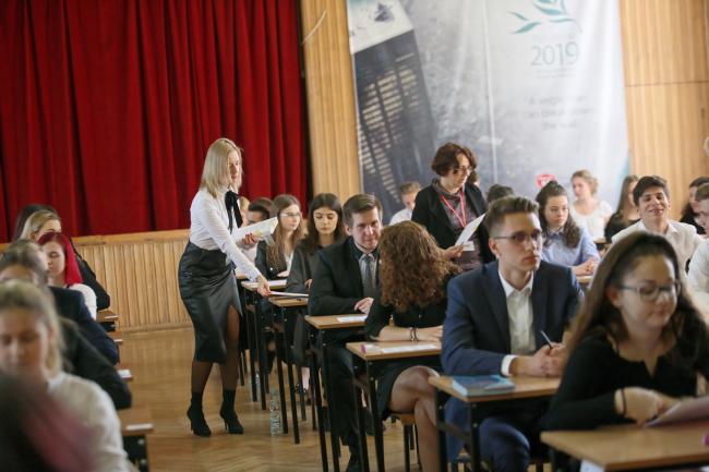 Выпускники лицея им. Т.Костюшко в Гожуве-Велькопольском перед экзаменом