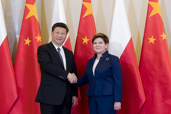 Chinese President Xi Jinping and Polish Prime Minister Beata Szydło. Photo: KPRM.