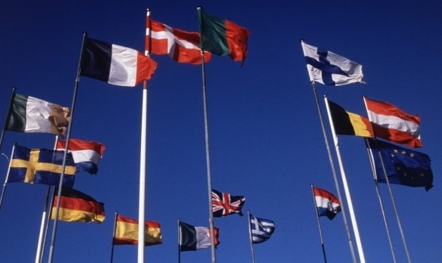 The flags of EU countries. Photo: EC