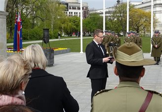 Australians, New Zealanders mark ANZAC day in Poland