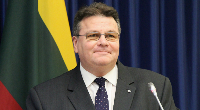 Szef litewskiego resortu spraw zagranicznych Linas Linkeviczius