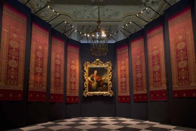 Виставка турецьких тканин і портрету Яна ІІІ. Музей-палац короля Яна ІІІ в Вілянуві, Варшава