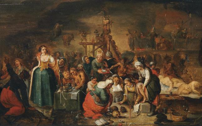 Hexensabbat auf dem Gemälde von Frans Francken d.J. von 1607