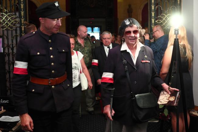 На премьере фильма «Иностранцы в Варшавском восстании»