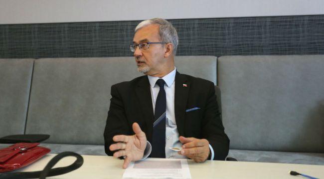 Министр Ежи Квециньский во время встречи с представителями крупнейших концернов в Сиэтле.