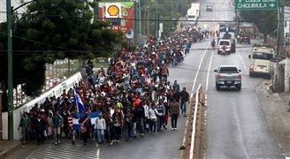 Duża fala migrantów zmierza do USA