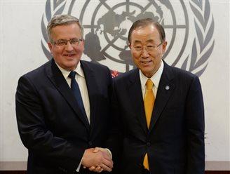 President Komorowski at the UN