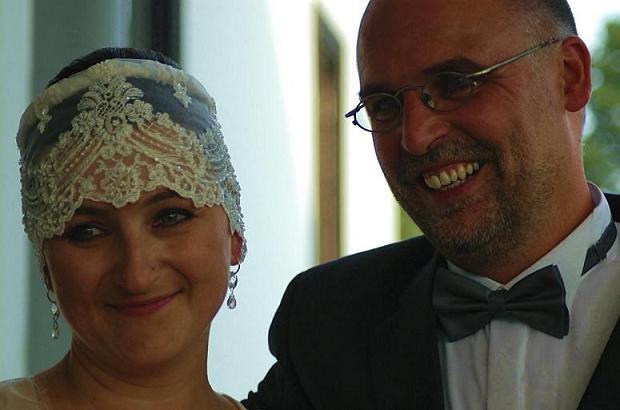 Gabriela und Uwe von Seltmann bei ihrer Hochzeit im Jahr 2007