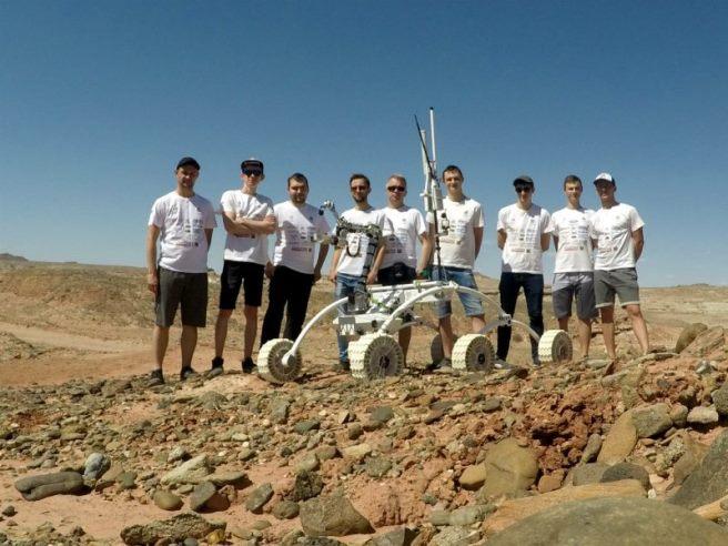 Zwycięska drużyna PCz Rover Team z Politechniki Częstochowskiej.  Foto: PCz Rover Team