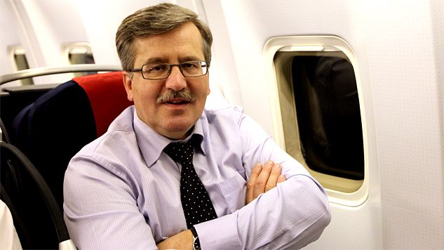 The old-skool 'tache is now back in fashion, according to President Komorowski Photo: prezydent.pl