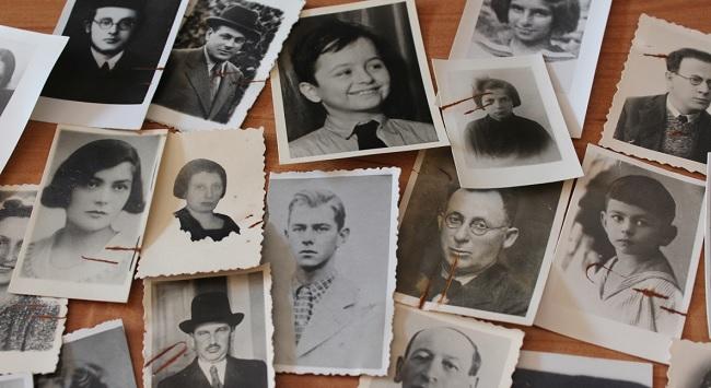 Фотокартки декого з тих, хто врятувався від Голокосту завдяки діяльності Бернської групи