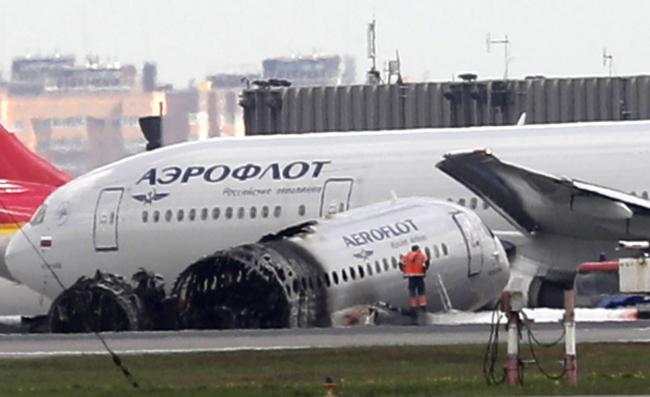 Потерпевший катастрофу 5 мая самолет Sukhoi Superjet