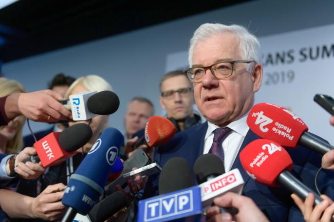 Глава МИД Польши Яцек Чапутович на саммите Западных Балкан в Познани.