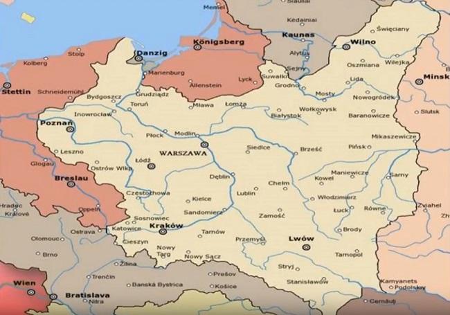 Территория Второй Речи Посполитой перед Второй мировой войной