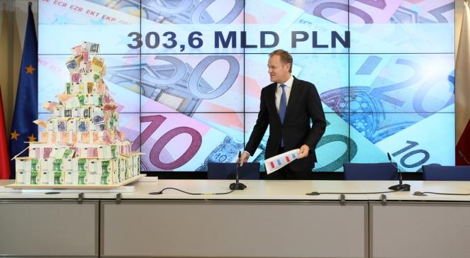 Premier Donald Tusk podczas konferencji prasowej po zakończeniu szczytu Unii Europejskiej poświęconego unijnemu budżetowi na lata 2014-2020
