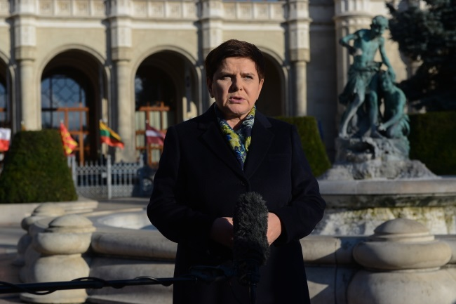 PM Beata Szydło in Budapest. Photo: PAP/Jakub Kamiński